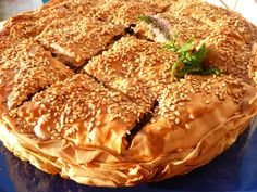 This is a traditional recipe from Crete (Greece) that needs some time to cook, but its really easy and can be prepared in advance.  As side dish or as full meal this pie is always welcome! My children loved to order this in the restaurant, now we can prepare this at home.