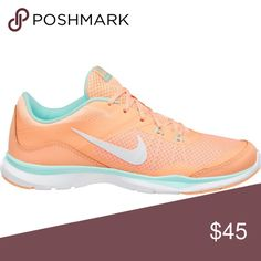 NIKE FLEX TRAINER 5 CROSS FIT RUNNERS Nike size 8 Flex trainer 5 cross fit runners. Super cute peachy/minty colored nikes! Super comfy lightly worn EUC shoes. Clearing out my closet! Enjoy! Shoes Sneakers