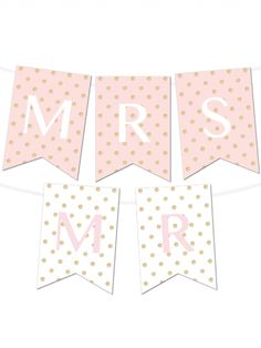 Free Printable Glitter Polka Dot Banner Maker from @chicfetti #freeprintable - in 6 colors - type in your own letters