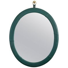 Leather Oval Mirror by Jason Koharik for Collected by | From a unique collection of antique and modern wall mirrors at https://www.1stdibs.com/furniture/mirrors/wall-mirrors/