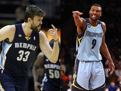 "Marc Gasol (33) & Tony Allen (9): NBA Jersey Buyers Guide - There are 2 ways 2 go here. The Grizzlies' best player is Marc Gasol, arguably the top center in the NBA right now w/one of the most aesthetically beautiful games in the league. But the player who embodies the grit-and-grind philosophy of the Grizzlies — the team that turns ""Whoop That Trick"" into a call to arms — is Tony Allen. Allen gets bonus points for being utterly incredible at Twitter."