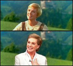 Julie Andrews before and after the sound of music