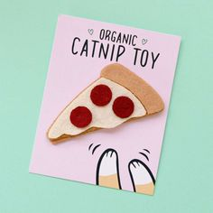 Pizza Cat Toy #cats #cattoy #catnip #pizza