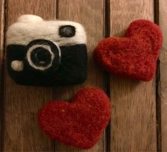 Excited to share the latest addition to my #etsy shop: Needle Felted Mini Camera Gift for Photographers Newborn Photo Prop Needle Felt Mini Hearts Valentine's Day Gift for Her Free Shipping #fiberart #valentinesday #organictoy #wool #feltedheart #feltedtoy #lovie #photographergift #giftsforphotographer