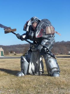 """Brother-Captain Colin, Grey Knight Terminatorby~Colin-Midwest ©2012 ~Colin-Midwest   Made with expanding foam, fiberglass, and other assorted materials and fillers. It took approximately THREE YEARS to complete and I'm very happy that this costume has finally been finished.I didn't wear the helmet for this photo because I wanted to capture some dramatics for the """"brother-captain"""" look.   http://z6.invisionfree.com/Obscurus_Crusade/index.php?showtopic=1043"""