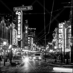 Black and White Photos of Granville Ave Through Downtown Vancouver - Metroscap.com