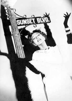 "Gloria Swanson as Norma Desmond of ""Sunset Blvd"" (1950)."