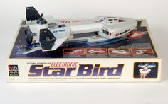 Star Bird is a plastic-bodied, electronic handheld spaceship toy that was produced by MB Electronics from 1979 until ca. 1981.