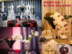 ONE DAY EVENT,  décoration de tables, martini