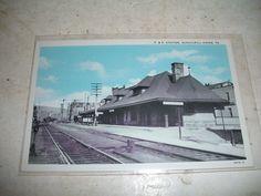 Postcard P R Railroad Station Train Schuylkill Haven Pennsylvania PA | eBay