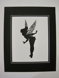 1 8 x 10 Tinkerbell Silhouette by MonkeyCs on Etsy, $10.00