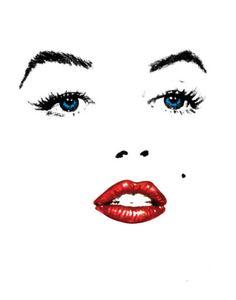 Marilyn Monroe Cross Stitch Pattern - (Note for DG) Marilyn Monroe Cuadros, Marilyn Monroe Pop Art, Marilyn Monroe Tattoo, Marilyn Monroe Painting, Marilyn Monroe Photos, 3d Templates, Arte Tribal, Tattoo Feminina, Norma Jeane
