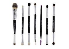 Double Ended Eyebrush Set With Case | Make Up Brushes - Blank Canvas Cosmetics