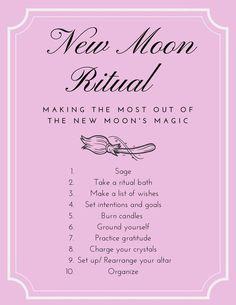 Moon Spells, Wiccan Spells, Magick, Magic Spells, Real Spells, Ritual Magic, Green Witchcraft, New Moon Rituals, Full Moon Ritual