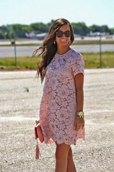 Mauve lace dress