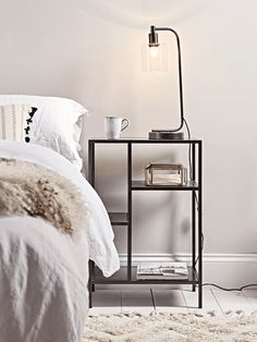 NEW Industrial Style Bedside Table - Bedroom Furniture - Furniture by Type - Luxury Home Furniture Luxury Home Furniture, Bedroom Furniture, Kitchen Furniture, Furniture Ideas, Furniture Layout, Furniture Buyers, Furniture Removal, Furniture Refinishing, Furniture Stores