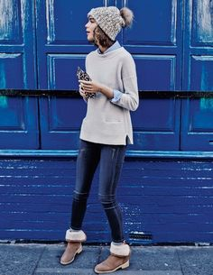 Cashmere Lofty Rib Sweater WV050 Sweaters at Boden