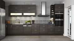 Kjøkkenfront - Metro eik grå lasyr  b2d3c5d72d277