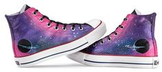 #galaxy high-top shoes custom galaxy high-top shoes,High-top Painted Canvas Shoes