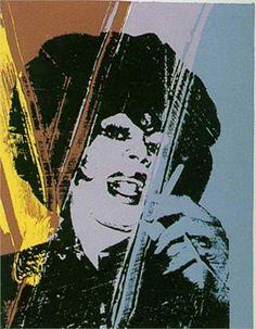 Drag Queen | Andy Warhol | 1975. Silkscreen. From the Ladies and Gentlemen series.