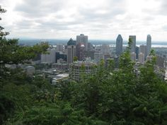 Looking down from Mont Royal, Montréal Seattle Skyline, San Francisco Skyline, Montreal, Canada, Spaces, Travel, Viajes, Destinations, Traveling