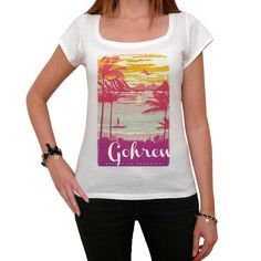 Gohren, Escape to paradise, Women's Short Sleeve Rounded Neck T-shirt