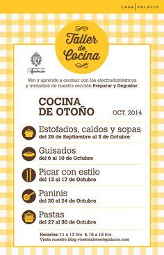 Queremos darte la mejor experiencia sobre gastronomía, por ello nuestro Taller de Cocina se renueva. Conóce el calendario de las clases de este mes e inscríbete.