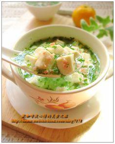 Jade Tofu Soup. #EZTofuPress
