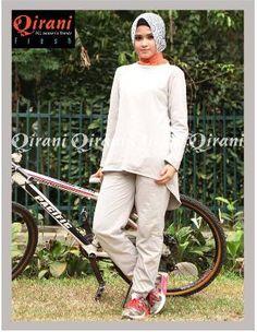 Beli Baju Sport Wanita Olahraga Qirani Fresh QDF-08 Abu-Abu dari Aprilia Wati agenbajumuslim - Sidoarjo hanya di Bukalapak