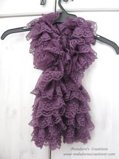 Lacy Ruffle Scarf - Sorry guys this is knit, but even crocheters can do this simple stitch!