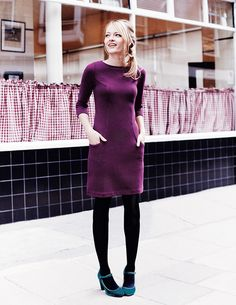 Winter Brights - Ottoman Shift Day Dresses by Boden