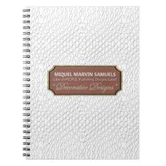 #white - #Reptile Decorative#1-b White Modern Notebook