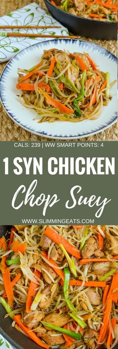 Low Syn Chicken Chop Suey - dairy free, Slimming World and Weight Watchers frien. Low Syn Chicken Chop Suey - dairy free, Slimming World and Weight Watchers frien. Slimming World Fakeaway, Slimming World Dinners, Slimming World Recipes Syn Free, Slimming World Diet, Slimming Eats, Slimming World Lunch Ideas, Slow Cooker Slimming World, Weight Watchers Chicken, Weight Watchers Meals