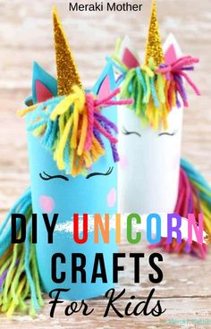 The best DIY craft ideas to try out with your kids! These unicorn toilet tube craft is super easy and fun! Crafts For Boys, Craft Projects For Kids, Fun Activities For Kids, Fun Crafts, Arts And Crafts, Craft Ideas, Preschool Activities, Art Projects, Motor Activities