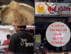 A Cup of Tea Full Of Love, Quite Literally. Address: Badami Haud Chowk, Shukrawar Peth, off Bajirao Road, Pune. Contact: 9021279191 #Cafes #Tea #Coffee #SaiHotel #CityShorPune
