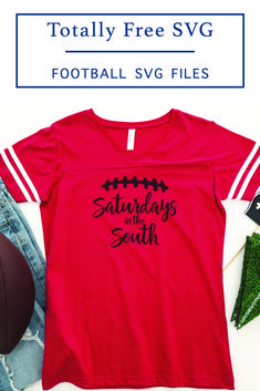 Celebrate Saturdays in the South with this fun F*R*E*E SVG file from Everyday Party Magazine #Football #SECFootball #SVGFiles #TotallyFreeSVG