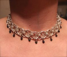Chain Maille Choker With Beads. $30.00, via Etsy.
