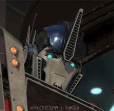 Blushing Optimus from Transformers Prime :3