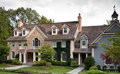 CURB APPEAL – another great example of beautiful design. M. Frederick Interiors Bernardsville Residence.