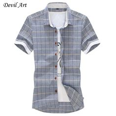 100% Cotton Mens Dress Short Sleeve Shirts Fashion