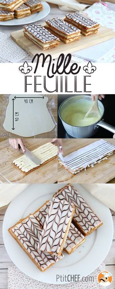 Vanilla mille-feuille – A classic French pastry made from A to Z! Oreo Desserts, Health Desserts, Gluten Free Desserts, Vegan Desserts, Just Desserts, Delicious Desserts, Custard Recipes, Cheesecake Recipes, Cupcake Recipes