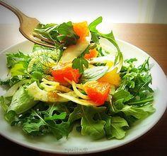 Салат из рукколы, фенхеля и апельсина