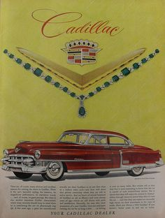 Cadillac 1953 Vintage Automobile Car Advertisement Ad Illustration 1950s by Christian Montone, via Flickr