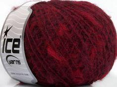 Fiber Content 40% Acrylic 29% Polyamide 20% Alpaca 10% Wool 1% Elastan Red Purple Brand ICE fnt2-40782