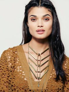 Free People Gold Coast Necklace, $48.00