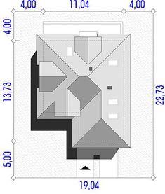 Projekt domu Maja 133,72 m² - koszt budowy - EXTRADOM Roof Structure, Building Structure, Bathroom Floor Plans, Bathroom Flooring, Roof Plan, Architecture Plan, Modern House Plans, Autocad, Carpentry