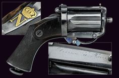 A 1866 model Devisme center-fire pepperbox revolver from the property of Napoleon III
