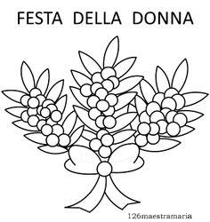 Mimosa Da Colorare.23 Fantastiche Immagini Su Feste Ricorrenze Le Idee Della