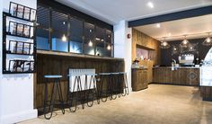 ​TERRY were appointed to create a concept that would stand out in Ballymena's coffee scene. The interior needed to be leisurely and cool yet appealing to all ages of the community. Bakery Shop Design, Coffee Shop Design, Retail Store Design, Visual Merchandising, Brick Cafe, Factory Architecture, Booth Seating, Branding, Bespoke Kitchens