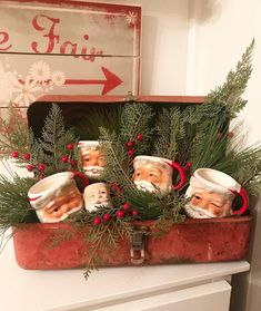 Patty Herron on We need a little Christmas, right this very minute While thruout the year, my decor is mostly neutral, I cant resist pops of red at Christmas Booth, Winter Christmas, Christmas Holidays, Christmas Wreaths, Christmas Displays, Xmas, Christmas Cover, Christmas Villages, Blue Christmas